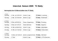Interclub Saison 2009 TC Bally