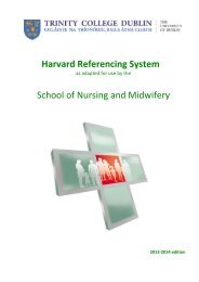 Guidelines for Harvard Referencing System - Trinity College Dublin