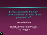 From Migration to Mobility - Trinity College Dublin