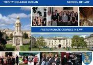 Postgraduate Prospectus for Law - Trinity College Dublin