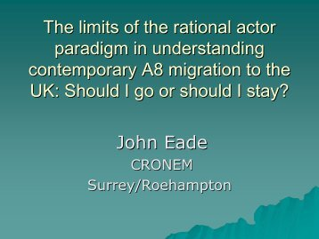 The limits of the rational actor paradigm in understanding ...