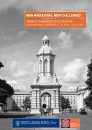 Conference Programme (PDF, 1019KB) - Trinity College Dublin
