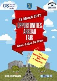 Careers Advisory Service - Trinity College Dublin