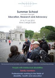 Summer School Brochure 2010 - Trinity College Dublin