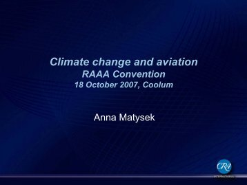 Climate change and aviation - TCDN