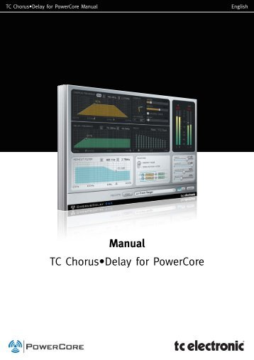 Manual TC Chorus•Delay for PowerCore - TC Electronic