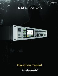 EQ Station Manual v. 2.01 sw. 220 English - TC Electronic