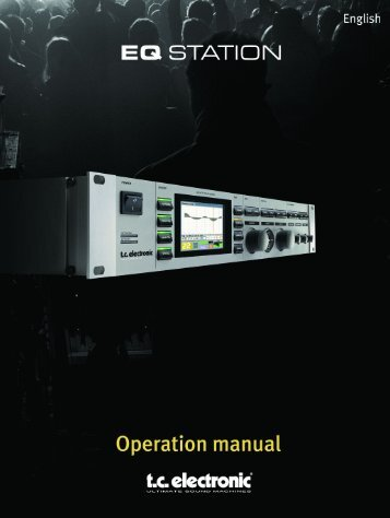 EQ Station Manual v. 2.01 sw. 220 English - TC Electronic