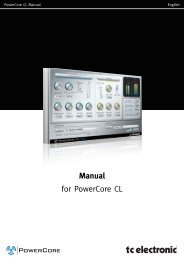 PowerCore CL Manual English - TC Electronic