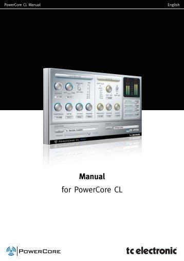 PowerCore CL Manual English - TC Electronic