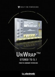 UnWrap PowerCore Manual English - TC Electronic