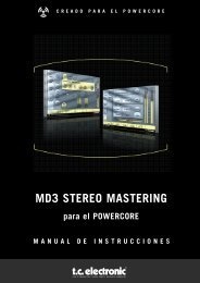 MD3 STEREO MASTERING - TC Electronic