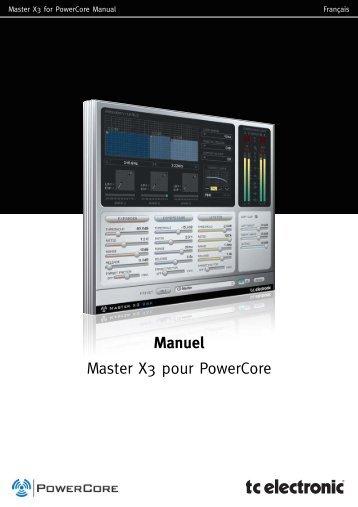 Manuel Master X3 pour PowerCore - TC Electronic