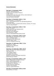 Konzertkalender - Bistum  Münster