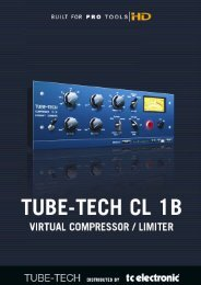 Tube-Tech CL 1B TDM Manual English - TC Electronic