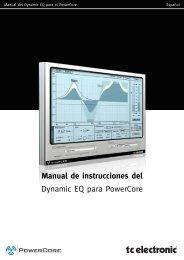 Manual de instrucciones del Dynamic EQ para ... - TC Electronic