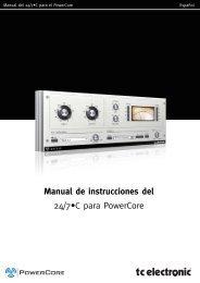 Manual de instrucciones del 24/7•C para PowerCore - TC Electronic