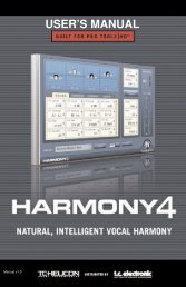 Harmony4 TDM Manual English - TC Electronic