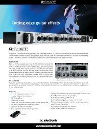Cutting edge guitar effects - TC Electronic