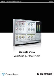 Manuale d'uso VoiceStrip per PowerCore - TC Electronic