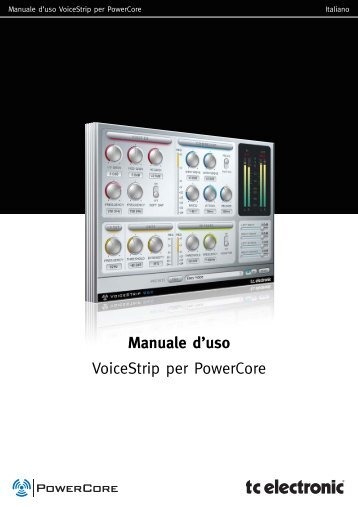 Manuale d'uso VoiceStrip per PowerCore - TC Electronic