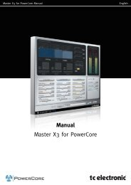 Master X3 PowerCore Manual English - TC Electronic