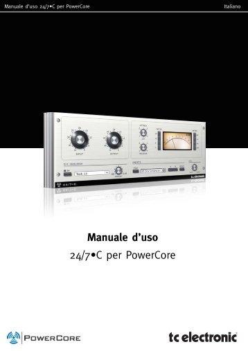Manuale d'uso 24/7•C per PowerCore - TC Electronic