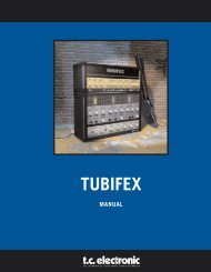 Tubifex PowerCore Manual English - TC Electronic