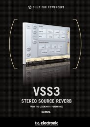 VSS3 PowerCore Manual English - TC Electronic