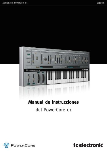Manual de instrucciones del PowerCore 01 - TC Electronic