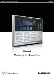 Master X5 PowerCore Manual English - TC Electronic