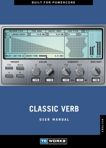 CLASSIC VERB - TC Electronic