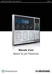 Manuale d'uso Master X3 per PowerCore - TC Electronic