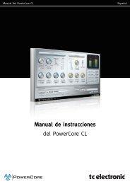 Manual de instrucciones del PowerCore CL - TC Electronic