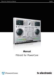 Filtroid PowerCore Manual English - TC Electronic