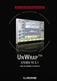 UnWrap TDM Manual English - TC Electronic