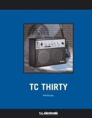 TC Thirty PowerCore Manual English - TC Electronic