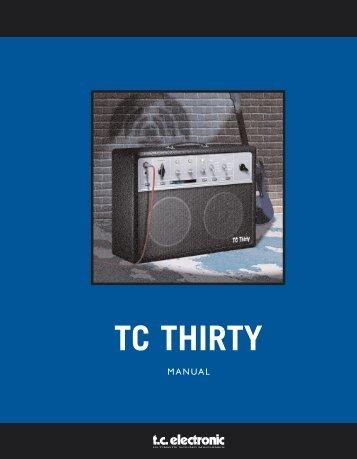 TC Thirty PowerCore Manual English - TC Electronic