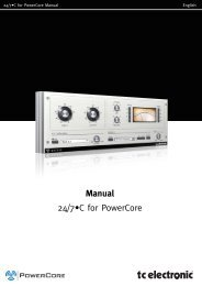 24/7-C PowerCore Manual English - TC Electronic
