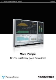 Mode d'emploi TC Chorus•Delay pour PowerCore - TC Electronic