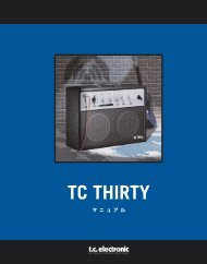 TC Thirty Manual - TC Electronic