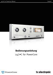 Bedienungsanleitung 24/7•C for PowerCore - TC Electronic
