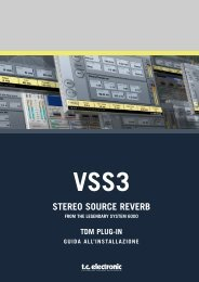 VSS3™ Stereo Source Reverb - TC Electronic