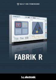 Fabrik R PowerCore Manual English - TC Electronic