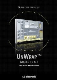 Unwrap PowerCore Manual - TC Electronic
