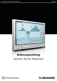 Bedienungsanleitung Dynamic EQ for PowerCore - TC Electronic