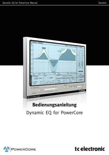 Bedienungsanleitung Dynamic EQ for PowerCore - TC Electronic
