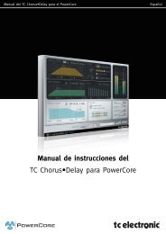 Manual de instrucciones del TC Chorus•Delay para ... - TC Electronic