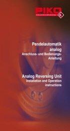 Pendelautomatik analog Analog Reversing Unit - Champex-Linden