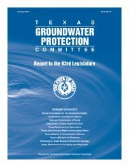 Texas Groundwater Protection Committee - TCEQ e-Services ...
